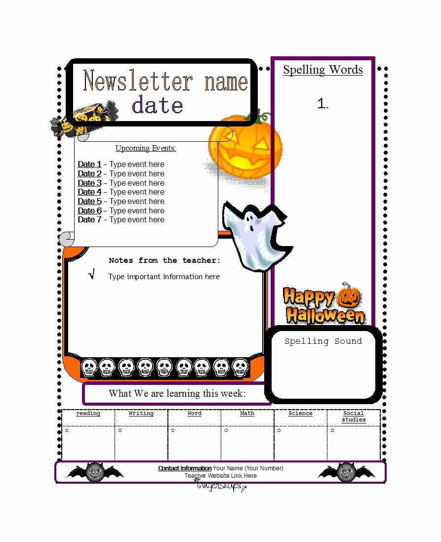 Newsletter Template for Preschool Awesome 50 Creative Preschool Newsletter Templates Tips