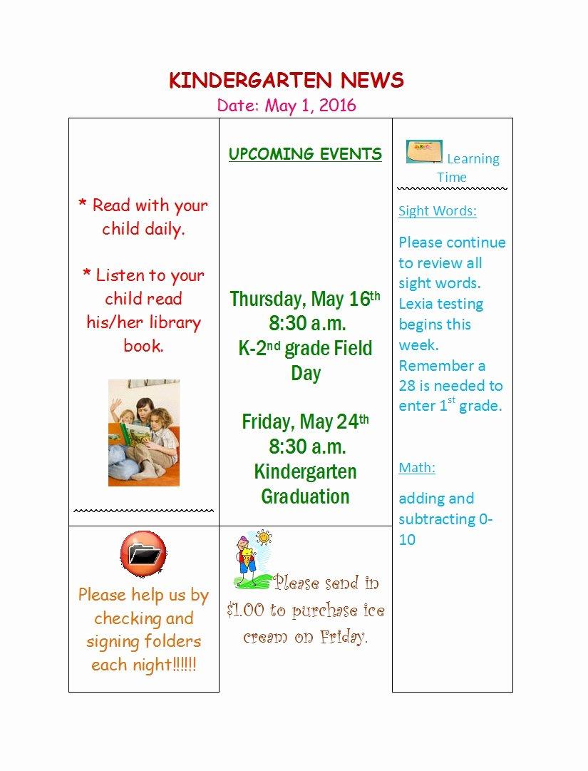 Newsletter Template for Preschool Beautiful 50 Creative Preschool Newsletter Templates Tips