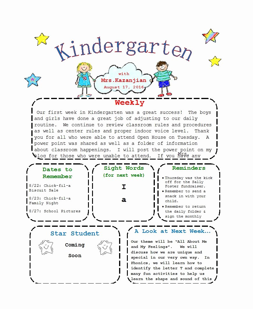 Newsletter Template for Preschool Best Of 50 Creative Preschool Newsletter Templates Tips