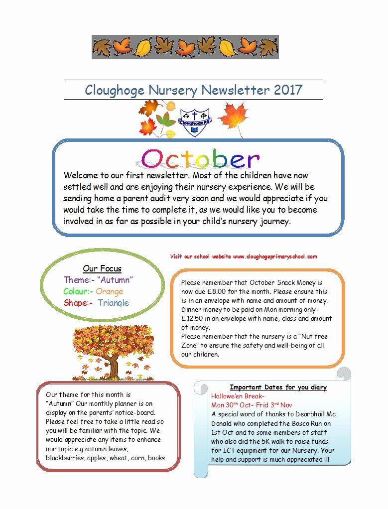 Newsletter Template for Preschool Elegant 50 Creative Preschool Newsletter Templates Tips