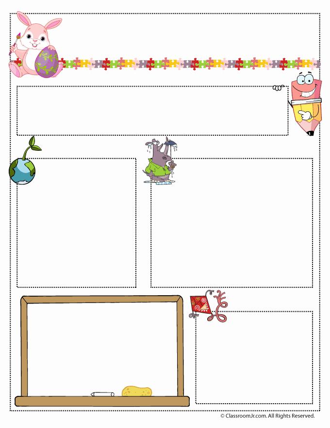 Newsletter Template for Preschool Elegant April Teacher Newsletter Template Classroom Jr