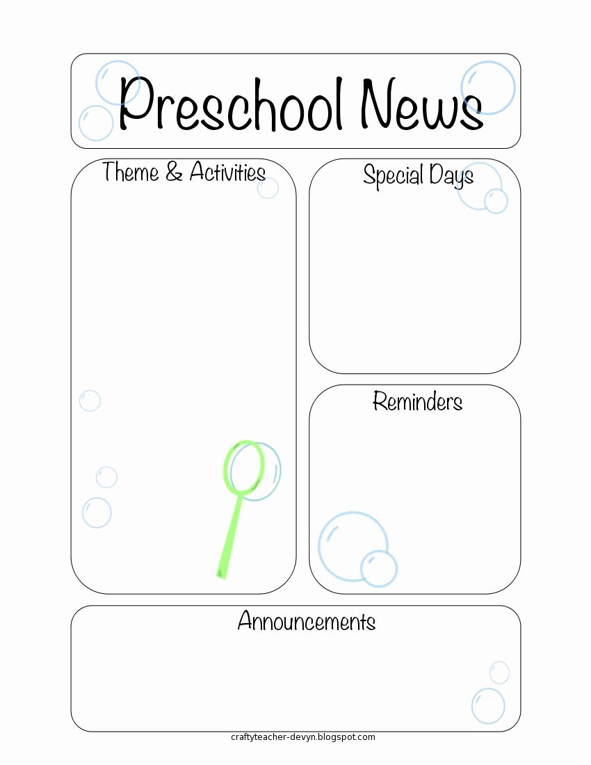 Newsletter Template for Preschool Fresh Newsletter Templates