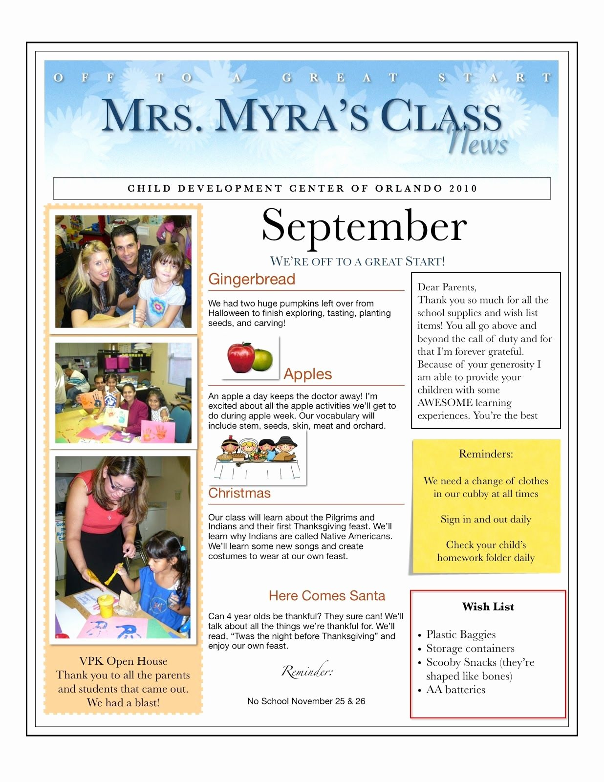 Newsletter Template for Preschool Fresh when I Taught Preschool for My Church It Was Mandatory to