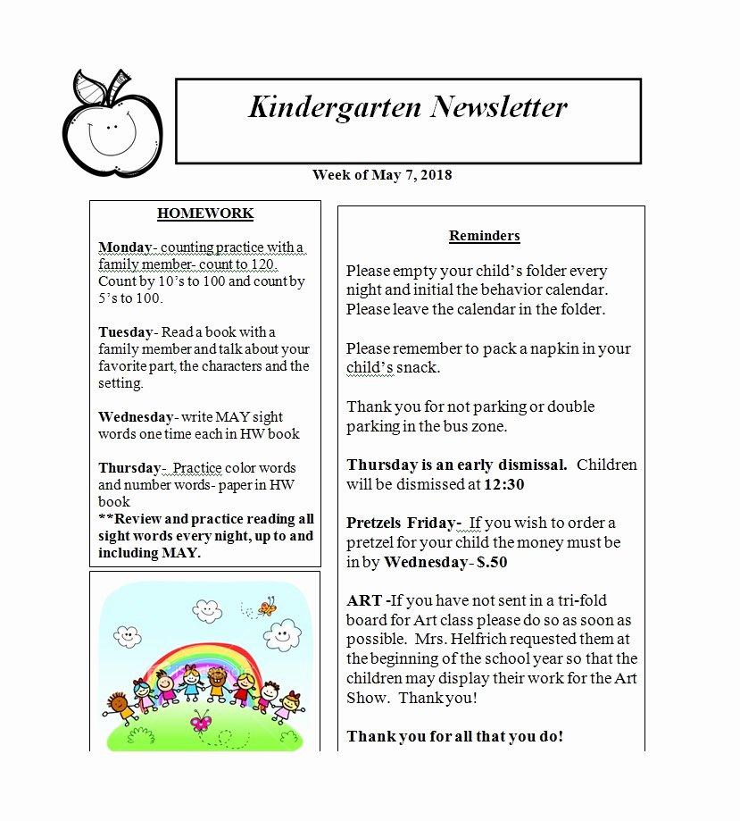Newsletter Template for Preschool Lovely 50 Creative Preschool Newsletter Templates Tips