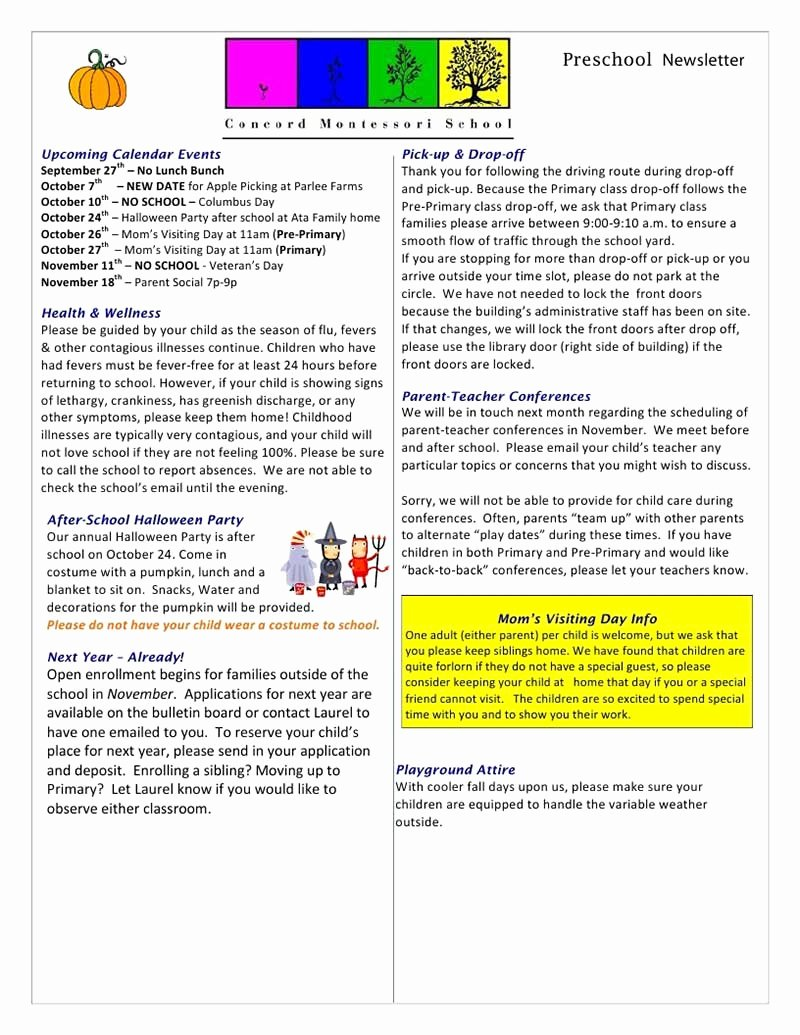 Newsletter Template for Preschool Lovely Newsletter Templates Free Download Create Edit Fill