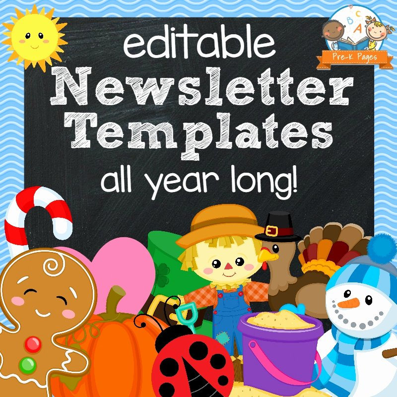 Newsletter Template for Preschool Unique Classroom Newsletters Pre K Pages