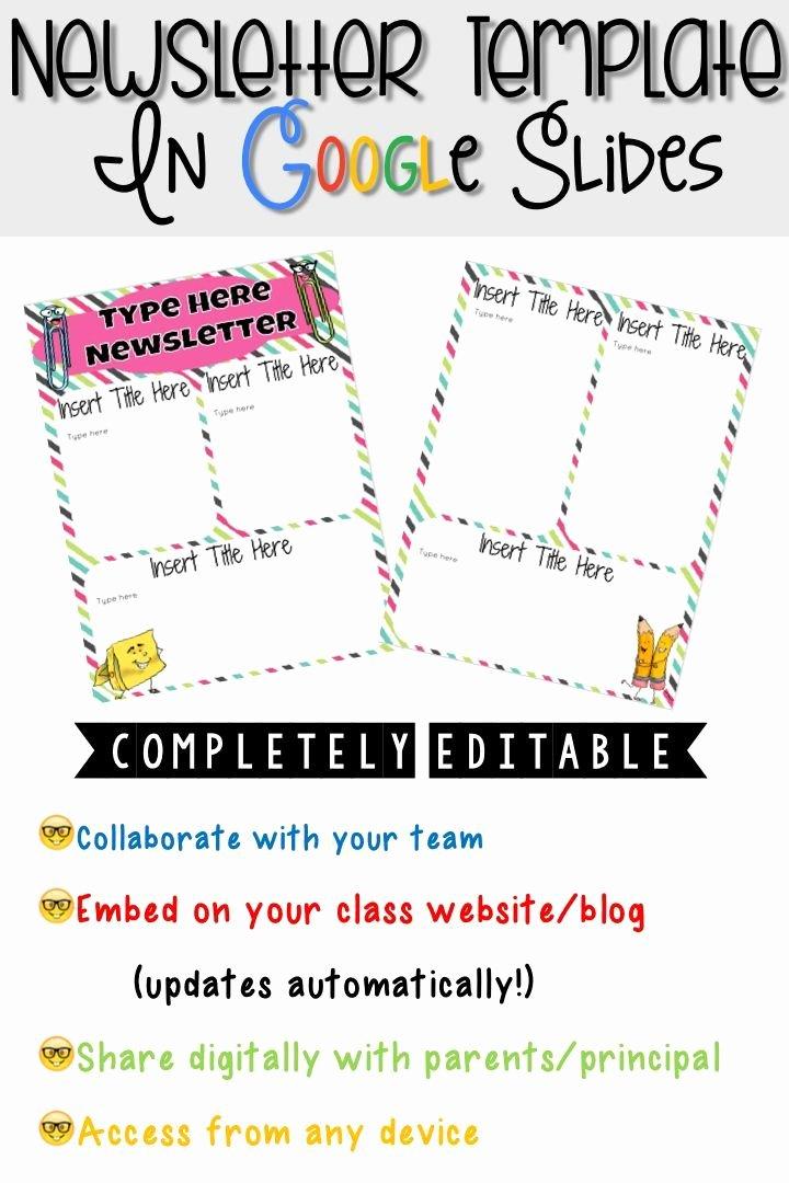 Newsletter Templates for Google Docs Unique Digital Newsletter Template In Google Slides