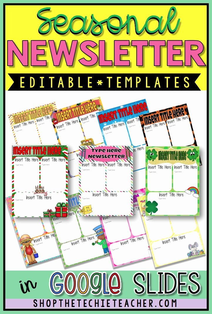 Newsletter Templates Google Docs Awesome Digital Newsletter Templates In Google Slides™