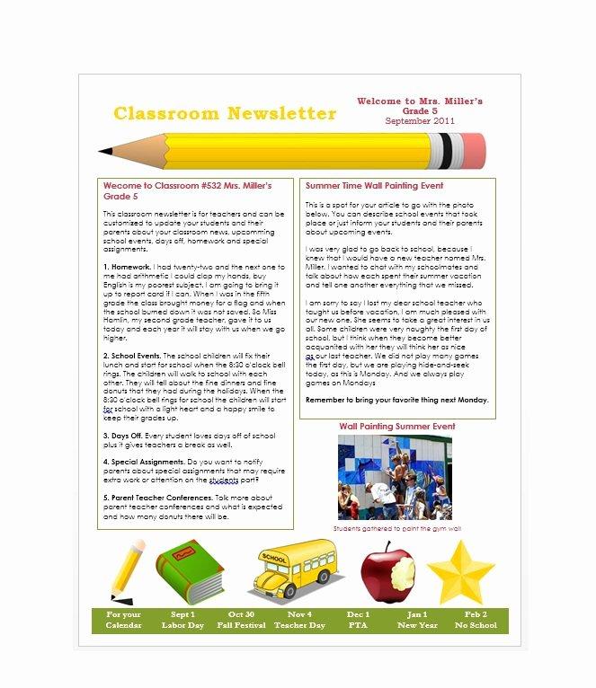 Newsletter Templates Google Docs Elegant 50 Free Newsletter Templates for Work School and Classroom