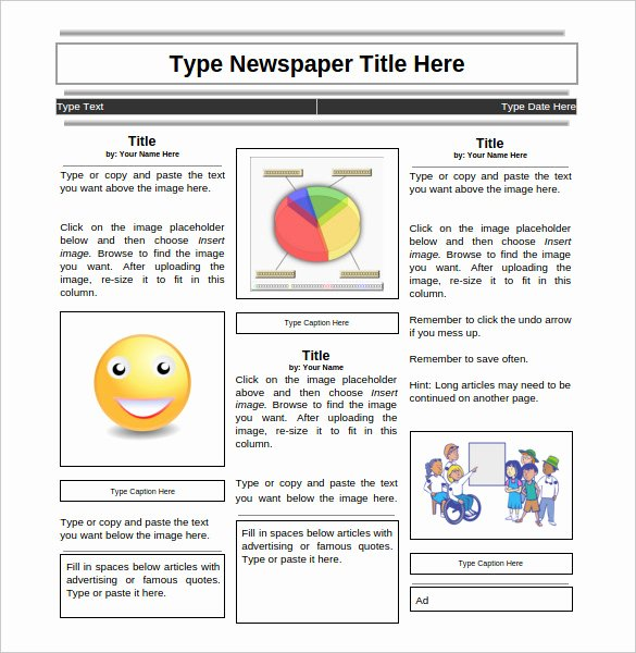 Newsletter Templates Google Docs Inspirational 28 Newspaper Templates Free Download