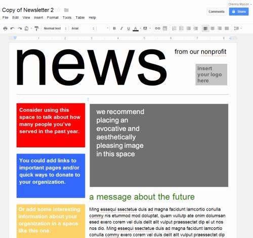 Newsletter Templates Google Docs Inspirational Google Drive Creating Google Docs