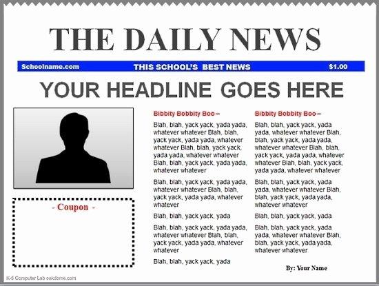 Newsletter Templates Google Docs Luxury Google Docs Newspaper Template 2018