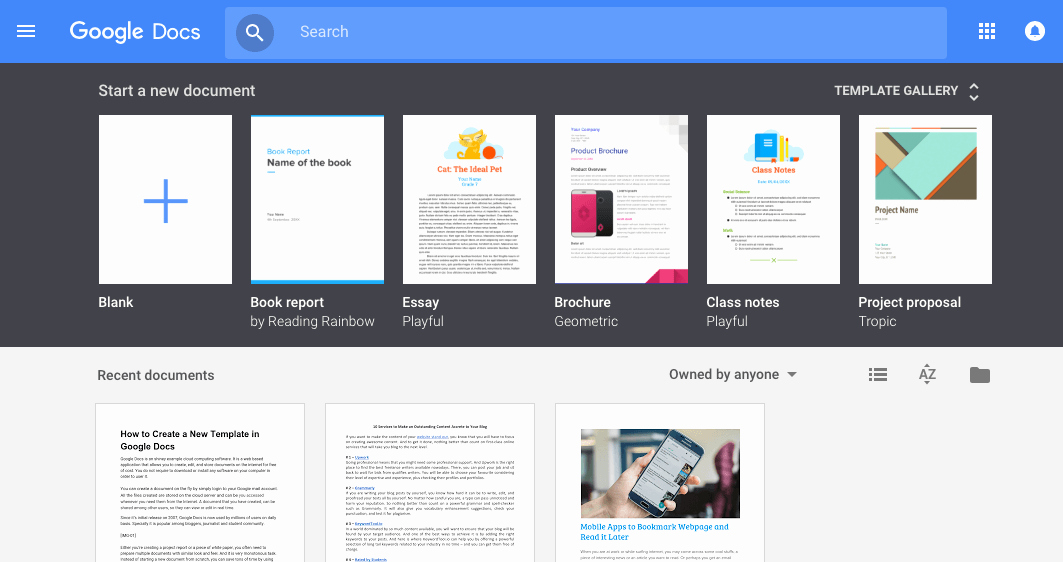 Newsletter Templates Google Docs New Google Docs Template Gallery