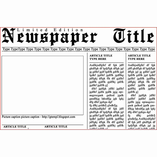 Newspaper Article format Template Beautiful Newspaper Template for Shop Photoshop Templates