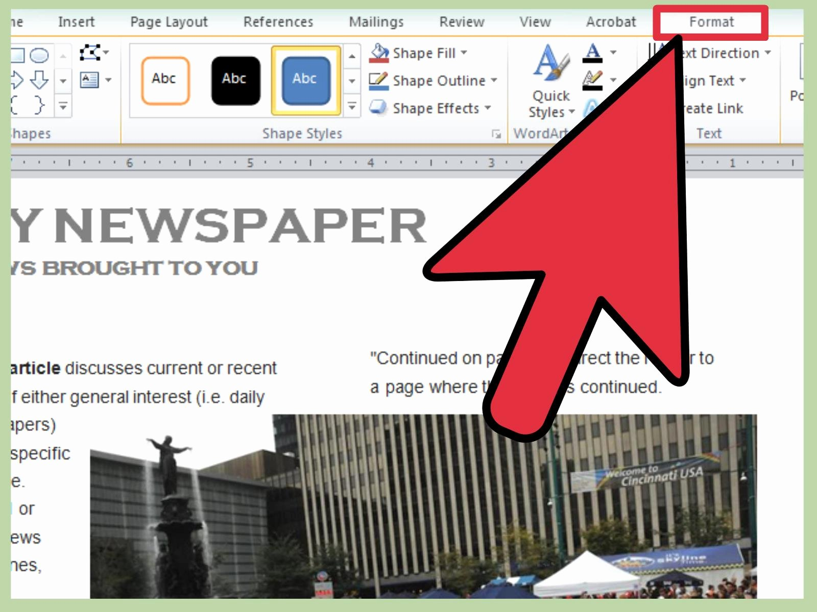 Newspaper Article format Template Best Of 3 Ways to Make A Newspaper On Microsoft Word Wikihow