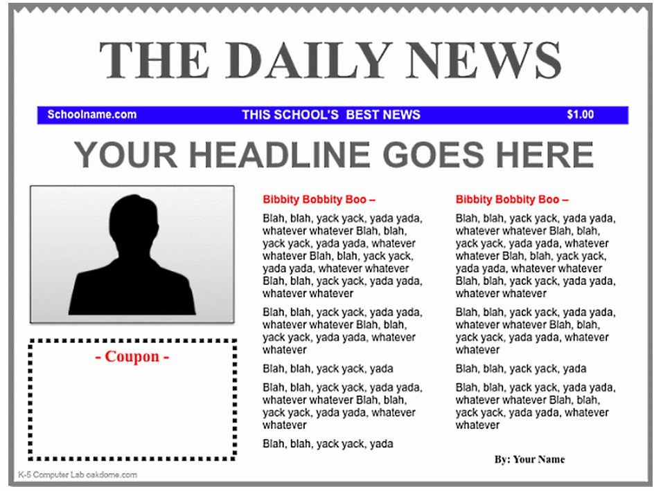 Newspaper Article format Template Fresh 3 Good Ipad Newspaper Templates for Teachers