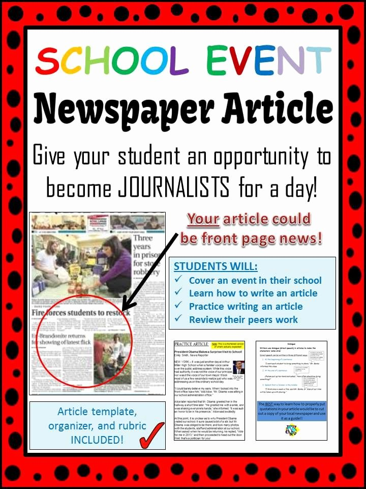 Newspaper Article format Template Inspirational School event Newspaper Article Peer Review Template