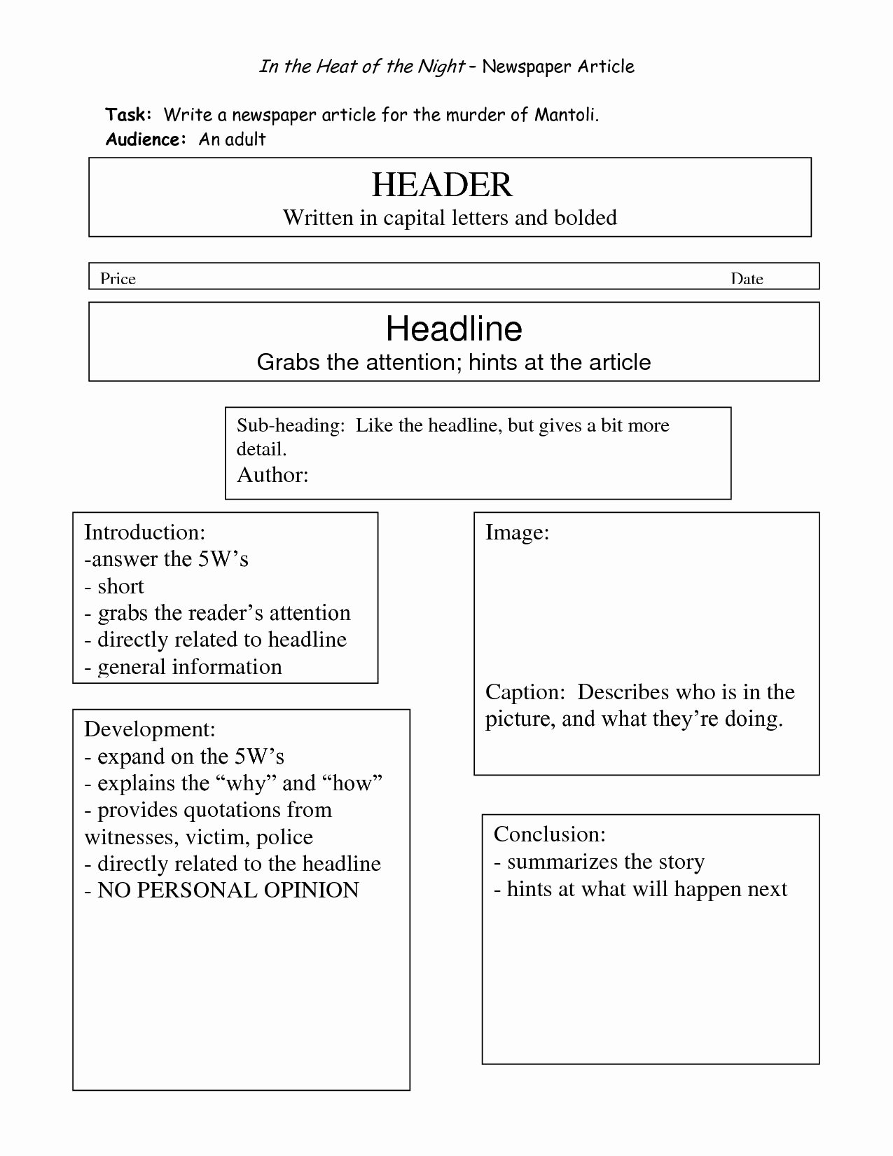 Newspaper Article format Template New Best S Writing Newspaper Article Template