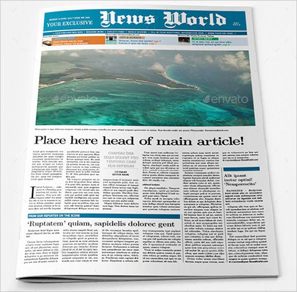 Newspaper Article format Template New Newspaper Article Template – 10 Indesign Eps Pdf