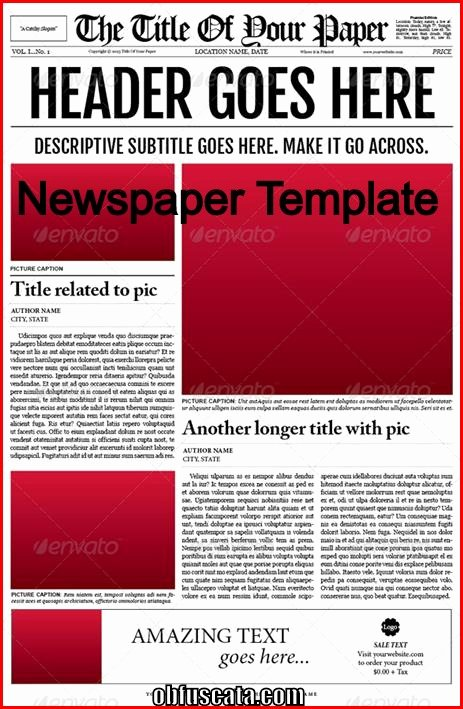 Newspaper Article format Template New Points to Note In A Newspaper Template