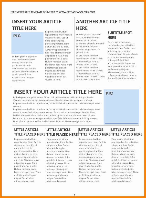 Newspaper Template for Microsoft Word Awesome 6 Editorial Template for Microsoft Word