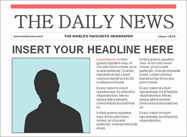 Newspaper Template for Microsoft Word Beautiful Free Newspaper Template