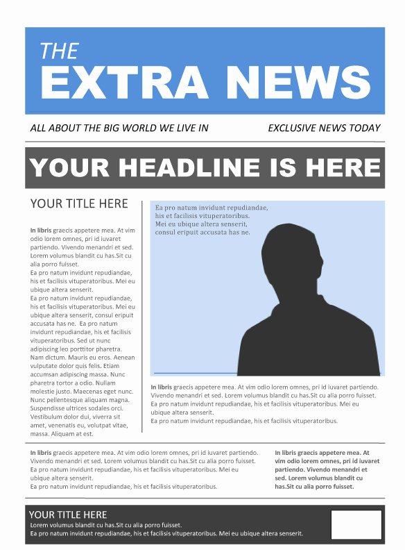 Newspaper Template for Microsoft Word Beautiful New Blog E Newspaper Template