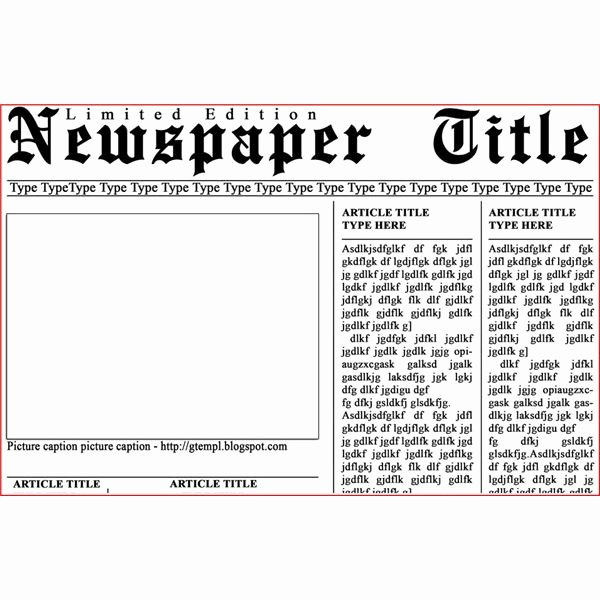 Newspaper Template for Microsoft Word Beautiful Newspaper Template Microsoft Word 2016
