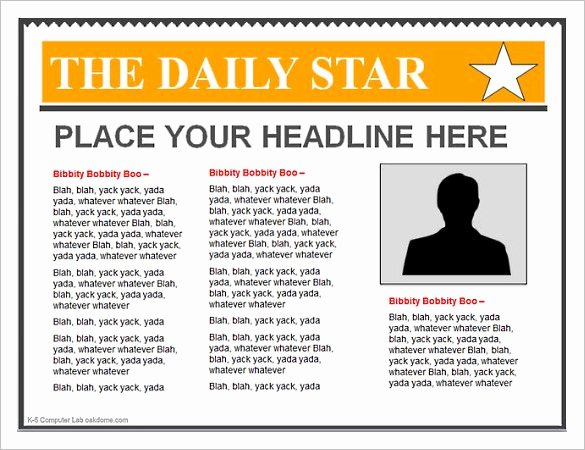 Newspaper Template for Microsoft Word Beautiful Powerpoint Newspaper Template – 21 Free Ppt Pptx Potx