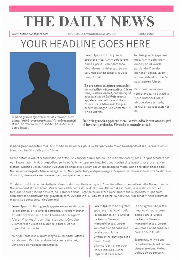 Newspaper Template for Microsoft Word Fresh Free 53 Amazing Newspaper Templates In Pdf Ppt Word
