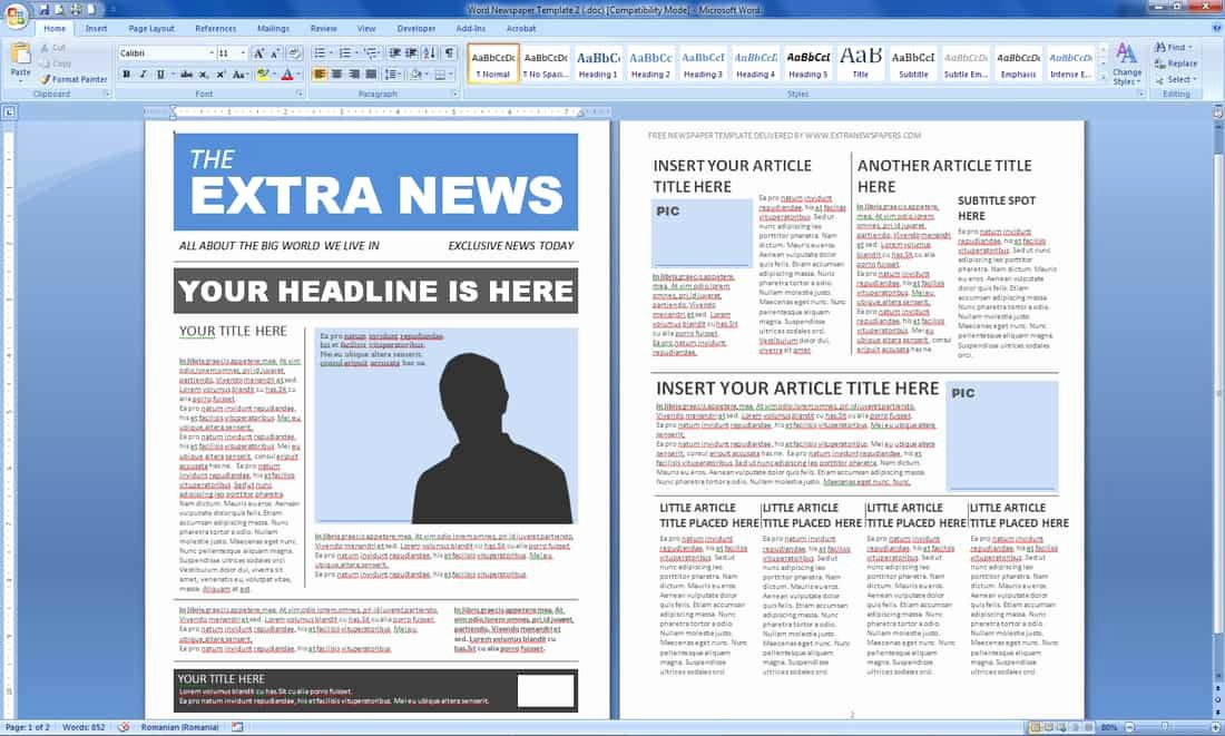 Newspaper Template for Microsoft Word Inspirational Magazine Templates Word Word Excel Samples
