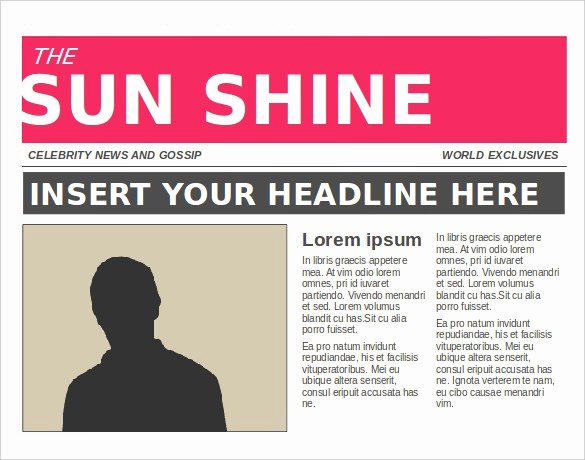 Newspaper Template for Microsoft Word Inspirational News Article Template