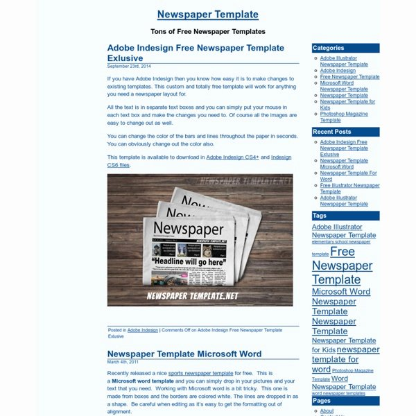 Newspaper Template for Microsoft Word Inspirational Newspaper Template Microsoft Word Newspaper Templates for