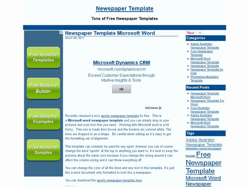 Newspaper Template for Microsoft Word Lovely Download Free Newspaper Template Microsoft Word Free