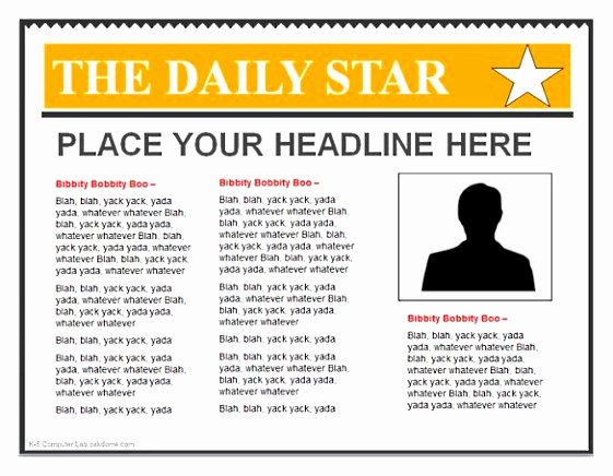 Newspaper Template for Microsoft Word Luxury 8 Newspaper Headline Template for Word Wpewq