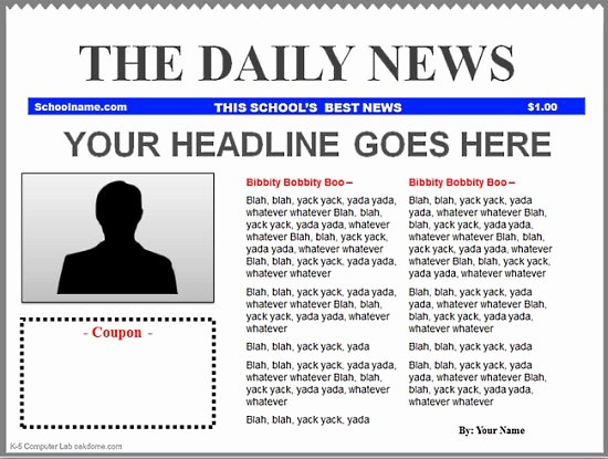 Newspaper Template for Microsoft Word New Microsoft Word Newspaper Template