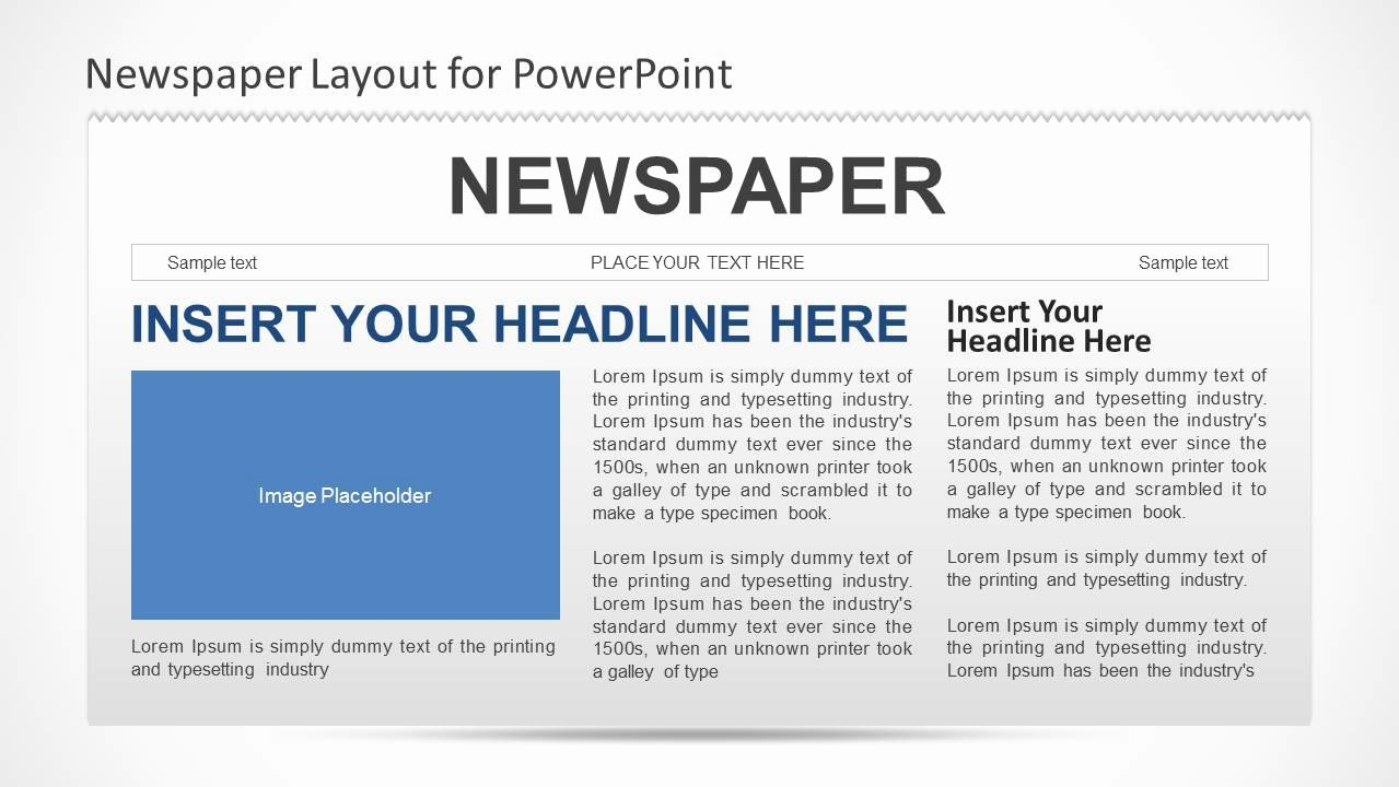 Newspaper Template for Ppt Awesome Newspaper Powerpoint Template Slidemodel