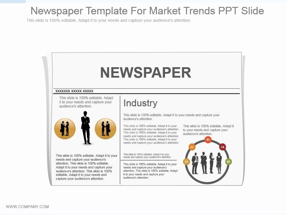 Newspaper Template for Ppt Awesome Newspaper Template for Market Trends Ppt Slide