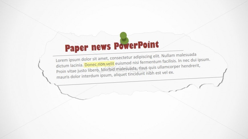 Newspaper Template for Ppt Best Of Newspaper Editable Clipping Shape for Powerpoint Slidemodel