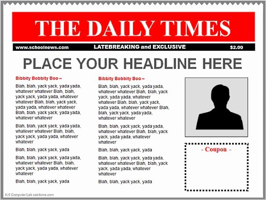 Newspaper Template for Ppt Best Of Powerpoint Newspaper Templates