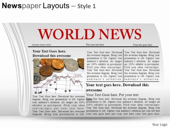 Newspaper Template for Ppt Fresh Newspaper Layout Template for Powerpoint