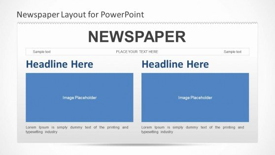 Newspaper Template for Ppt Fresh Newspaper Powerpoint Template Slidemodel