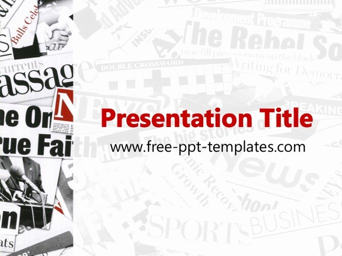 Newspaper Template for Ppt Fresh Newspaper Ppt Template