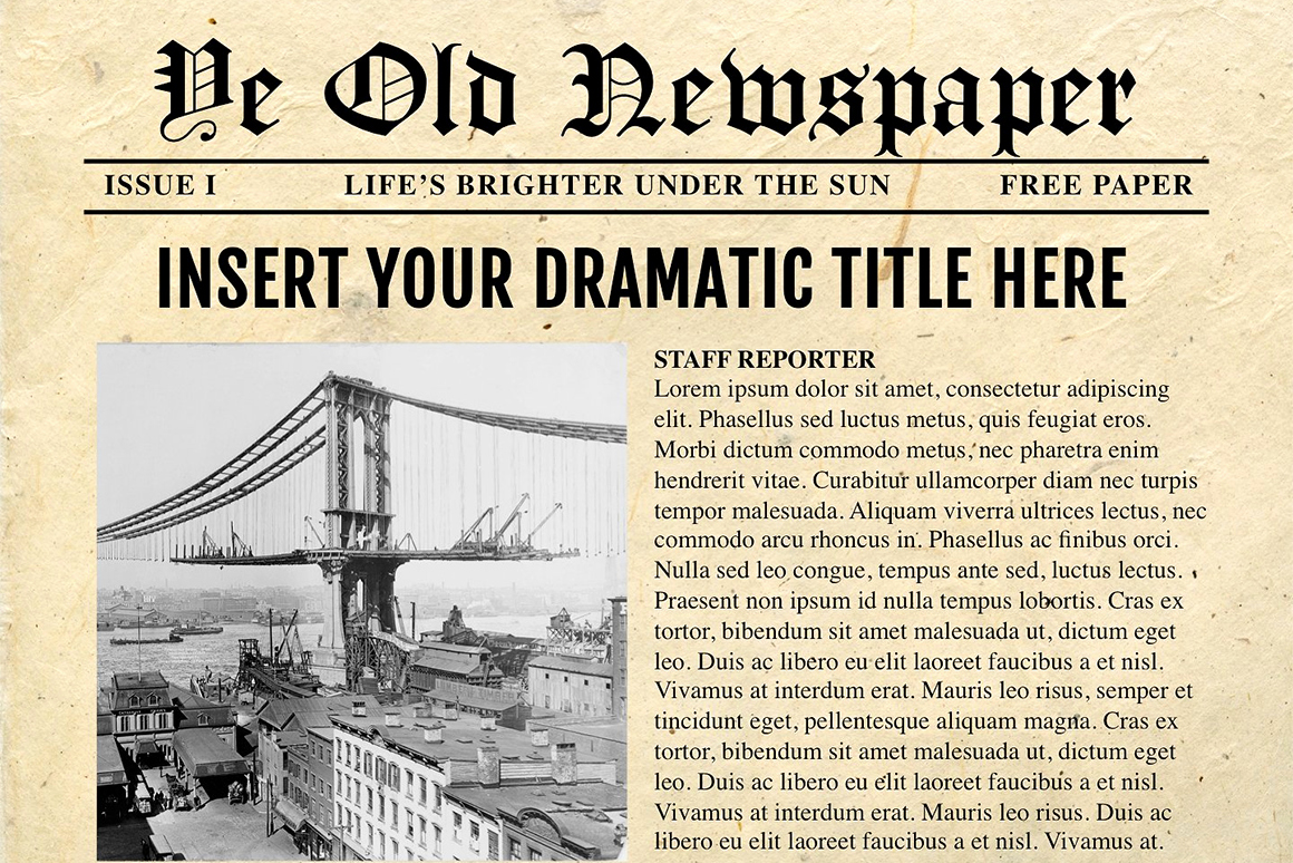 Newspaper Template for Ppt Inspirational Newspaper Template for Powerpoint Vsual