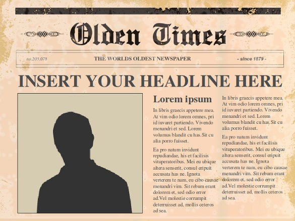 Newspaper Template for Ppt Inspirational Powerpoint Newspaper Template – 21 Free Ppt Pptx Potx