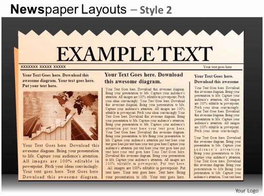 Newspaper Template for Ppt Lovely Newspaper Layouts Style 2 Powerpoint Presentation Slides