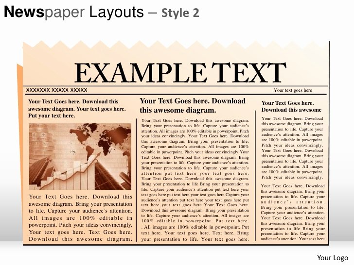 Newspaper Template for Ppt Luxury Newspaper Layouts Style 2 Powerpoint Presentation Templates