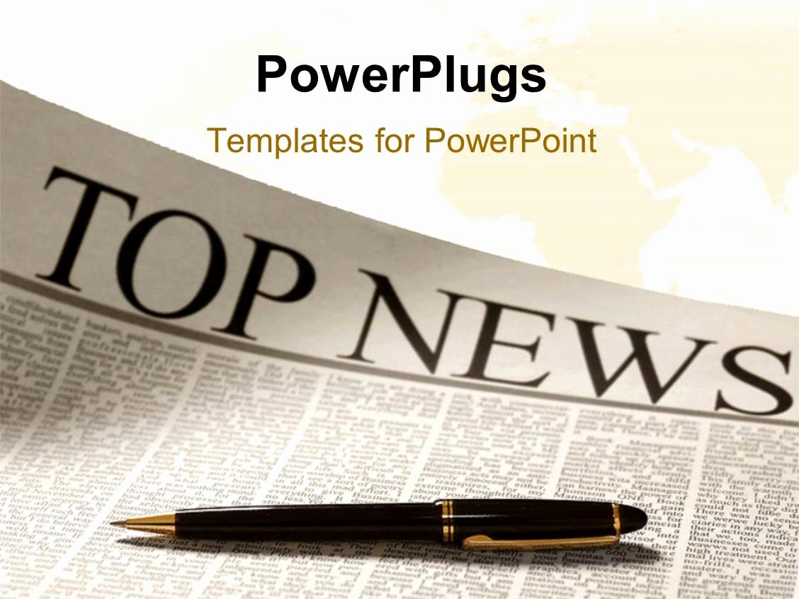 Newspaper Template for Ppt Luxury Powerpoint Template top News Headline On A Newspaper Page