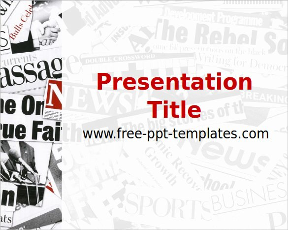 Newspaper Template for Ppt New Newspaper Template Powerpoint