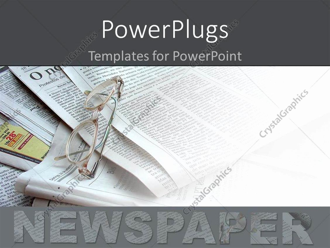 Newspaper Template for Ppt New Powerpoint Template Newspapers In the Background White